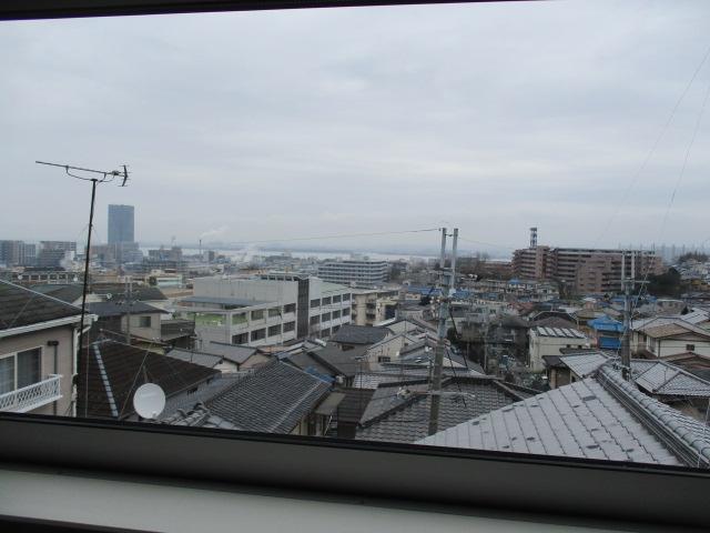 ロフトからの琵琶湖眺望