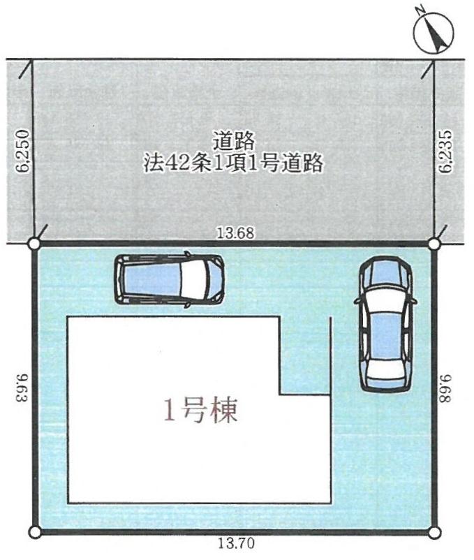 建物配置図・駐車2台可
