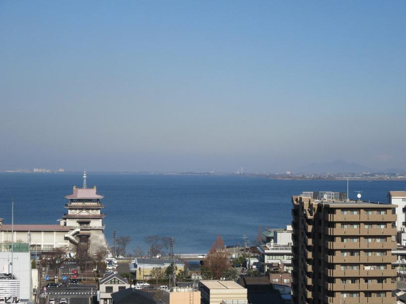 バルコニーから琵琶湖眺望