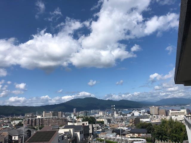 西側バルコニーからの眺望
