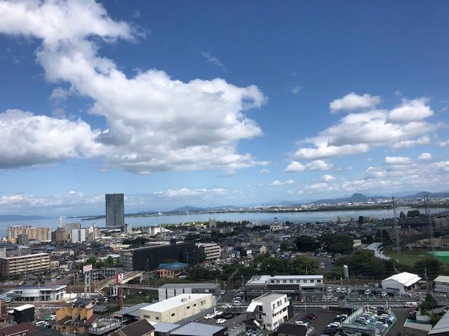 東側バルコニーからの眺望